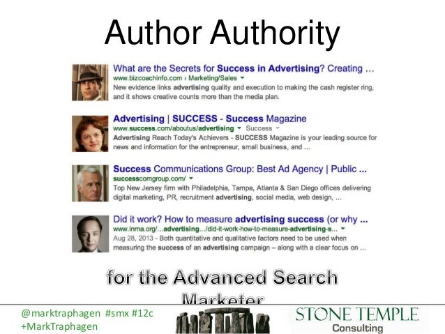 Author Authority @marktraphagen #smx #12c +MarkTraphagen