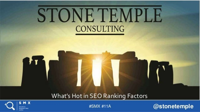#SMX #11A @stonetemple TITLE SLIDE ALTERNATIVE LAYOUT w/ *EXAMPLE* IMAGE (SWAP IN YOUR OWN AS NEEDED) What's Hot in SEO Ra...