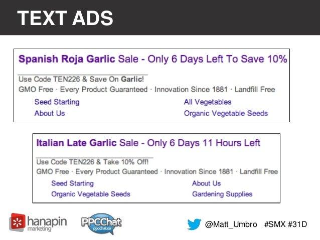 TEXT ADS  @Matt_Umbro #SMX #31D