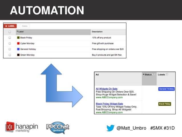 AUTOMATION  @Matt_Umbro #SMX #31D