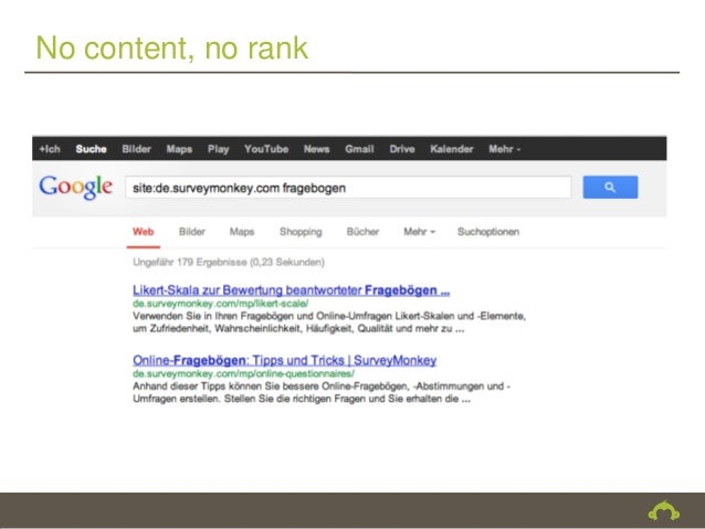No content, no rank