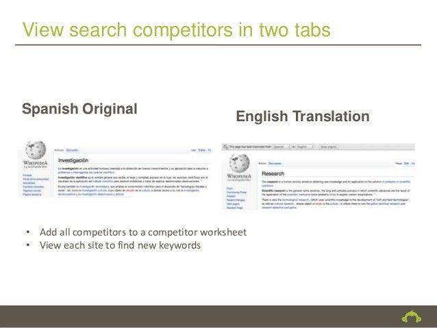 View search competitors in two tabsSpanish Original                                            English Translation• Add al...