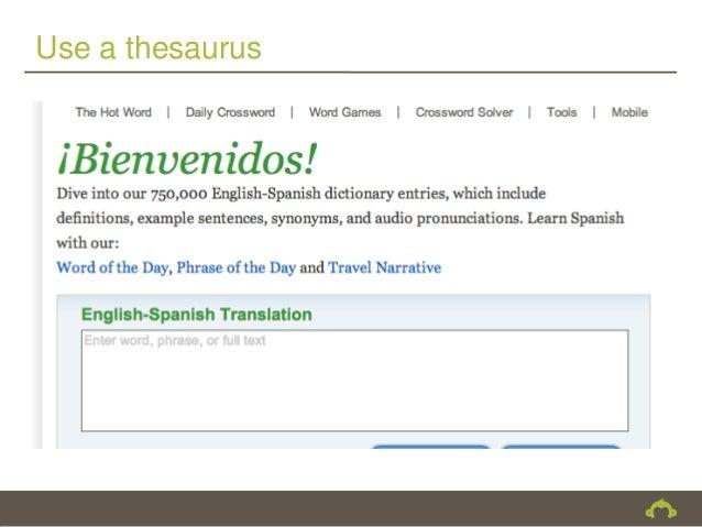 Use a thesaurus