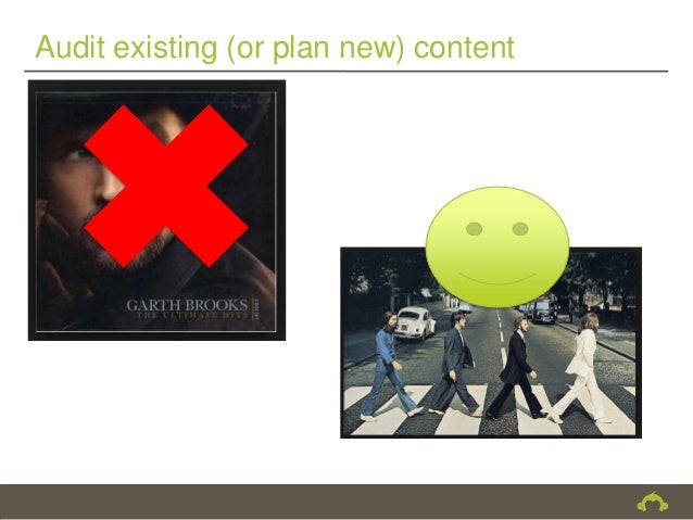 Audit existing (or plan new) content