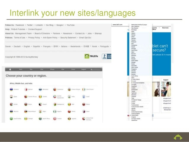 Interlink your new sites/languages