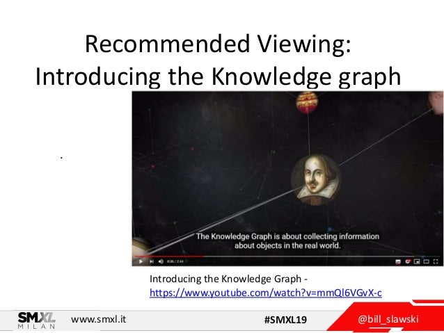 @bill_slawskiwww.smxl.it #SMXL19 Recommended Viewing: Introducing the Knowledge graph . Introducing the Knowledge Graph - ...