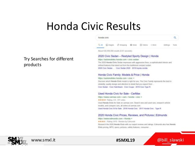 @bill_slawskiwww.smxl.it #SMXL19 Honda Civic Results Try Searches for different products