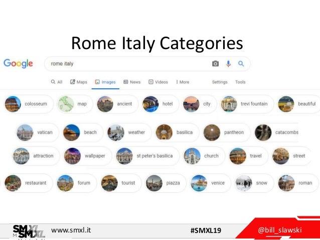 @bill_slawskiwww.smxl.it #SMXL19 Rome Italy Categories