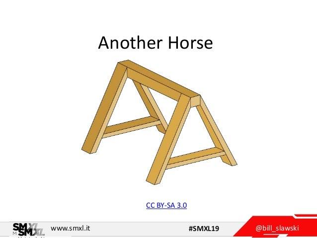 @bill_slawskiwww.smxl.it #SMXL19 Another Horse CC BY-SA 3.0