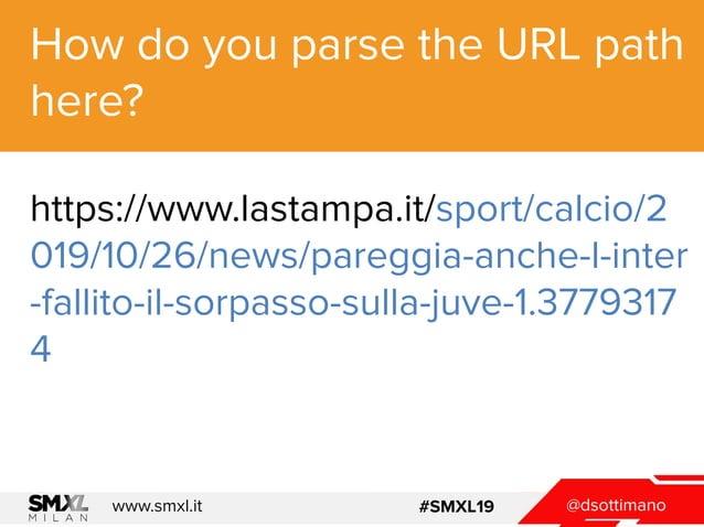 @dsottimanowww.smxl.it #SMXL19 How do you parse the URL path here? https://www.lastampa.it/sport/calcio/2 019/10/26/news/p...