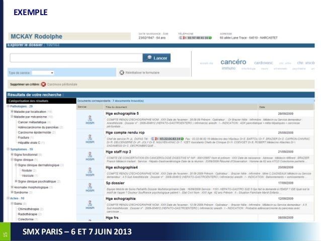 1515SMX PARIS – 6 ET 7 JUIN 2013EXEMPLE