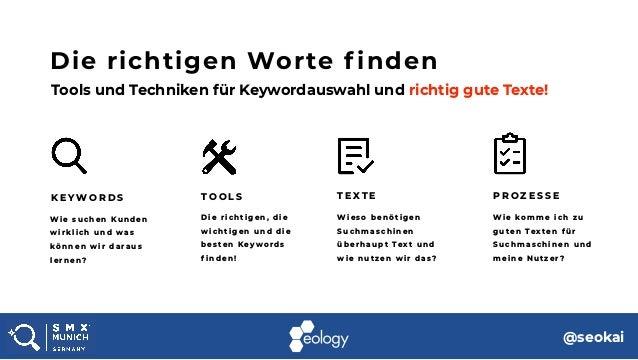 Kai Spriestersbach @SMX München 2018 - Die richtigen Worte finden: Keyword Research und Suchmaschinentexte Slide 2