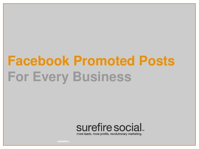 Facebook Promoted Posts For Every Business