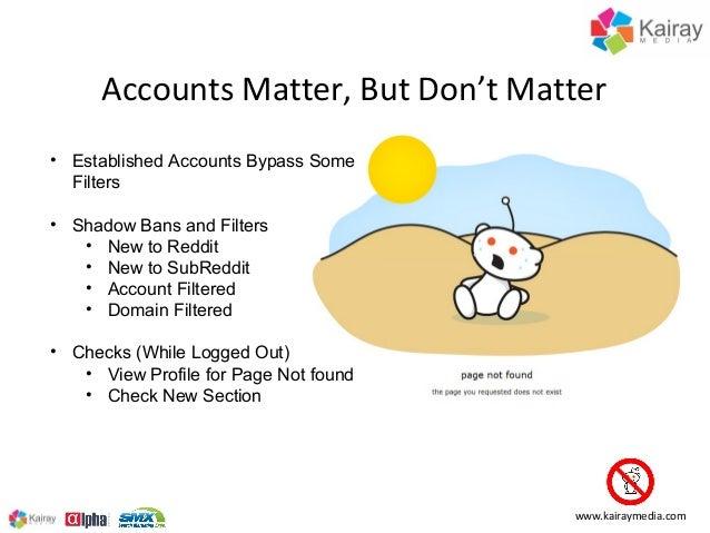 Accounts Matter, But Don't Matter•