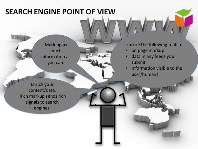 SEARCH ENGINE POINT OF VIEW               Mark up as     Ensure the following match:                  much        • on pag...