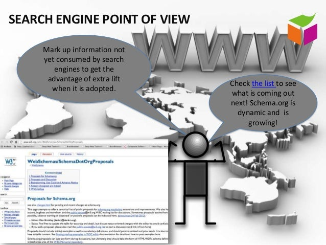 SEARCH ENGINE POINT OF VIEW     Mark up information not     yet consumed by search        engines to get the      advantag...