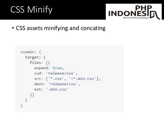 CSS Minify • CSS assets minifying and concating