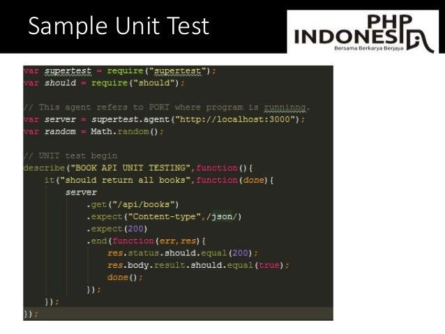 Sample Unit Test