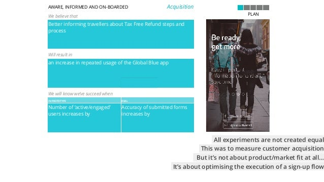 evolved version of hypothesis template 30 AWARE, INFORMED AND ON-BOARDED We believe that Better informing travellers about...