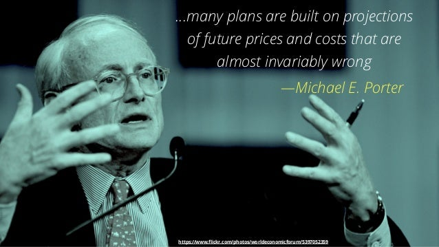 3 …many plans are built on projections of future prices and costs that are almost invariably wrong —Michael E. Porter http...