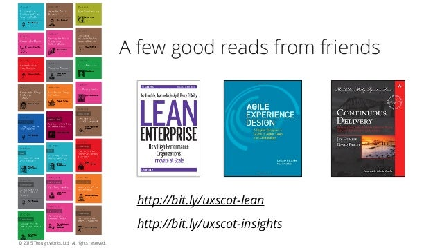 31 Lessons From The Trenches (IAG Experience Report) A few other helpful things.