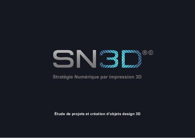 SN3D©® 2014 1 Étude de projets et création d'objets design 3D