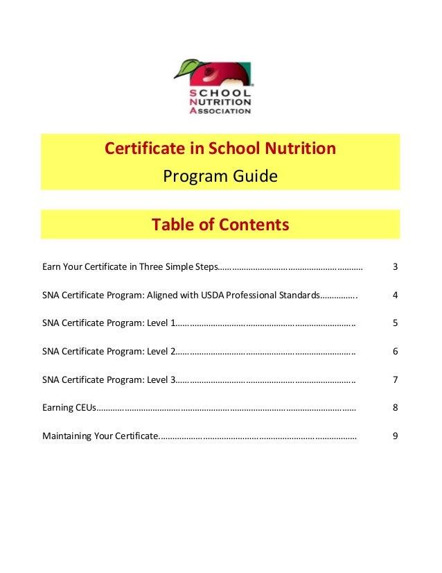 Sna certificate guidejune2015a Slide 2