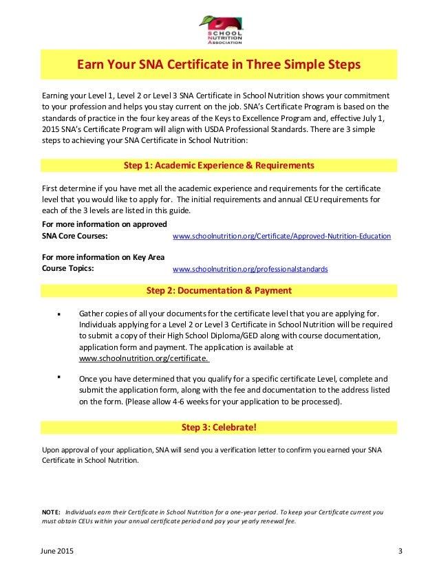 Sna certificate guidejune2015a Slide 3
