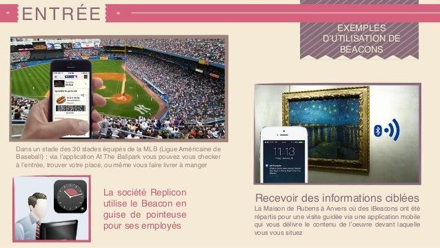 ENTRÉE EXEMPLES D'UTILISATION DE BEACONS Recevoir des informations ciblées La Maison de Rubens à Anvers où des iBeacons on...