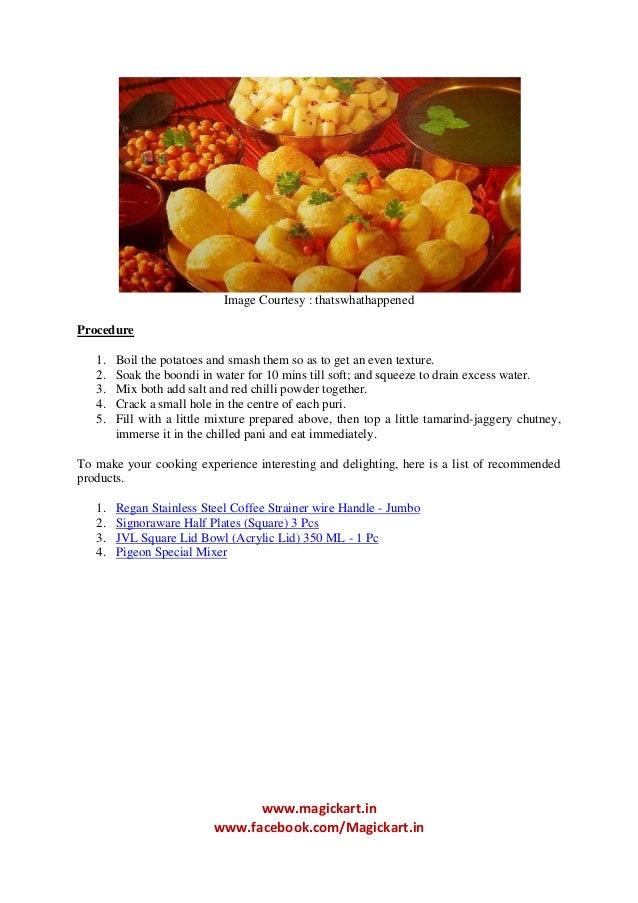Snacks pani puri recipe for kids 3 forumfinder Images