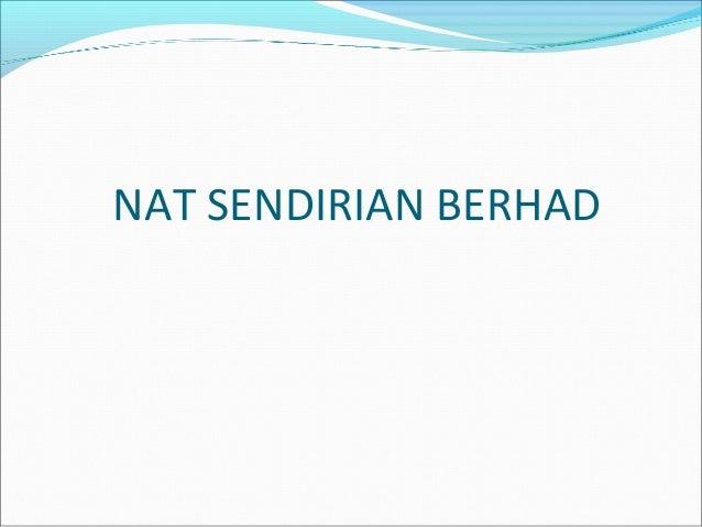 NAT SENDIRIAN BERHAD