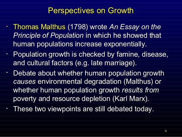 malthus essay of the principle of population An essay on the principle of population as it affects the future improvement of society, with remarks on the speculations of mr godwin, m condorcet, and other.