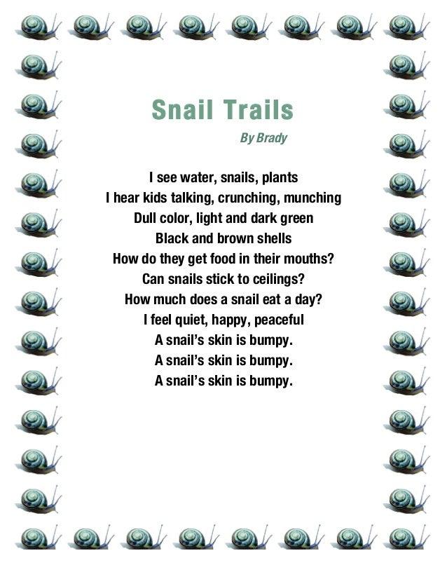 Snail trail poem anthology ripon 2014 3rd grade