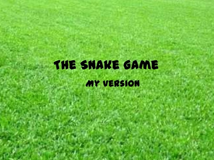The Snake Game    My version
