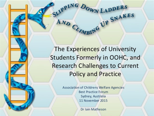 The Experiences of University Students Formerly in OOHC, and Research Challenges to Current Policy and Practice Associatio...