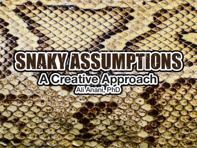 Ali Anani, PhD A Creative Approach