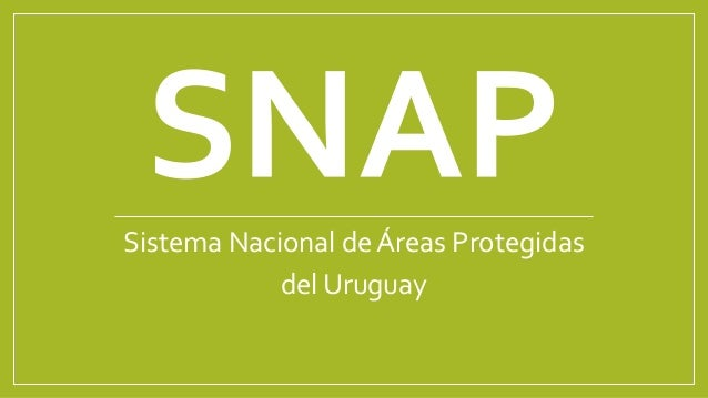 Sistema Nacional de Áreas Protegidas del Uruguay