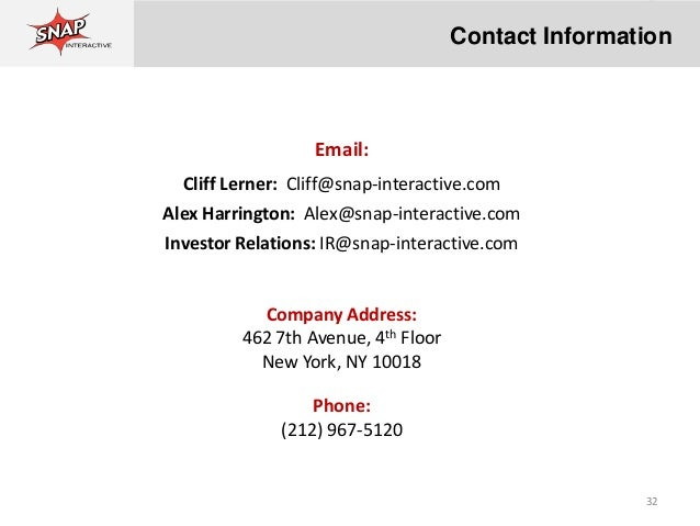 Snap interactive address