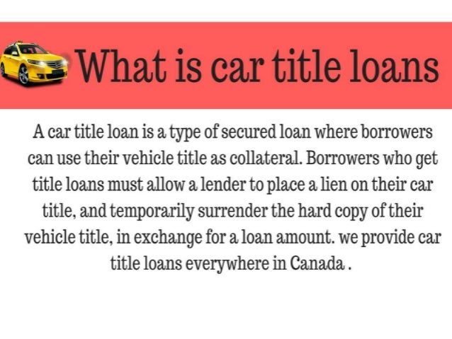 car title loans canada Slide 3