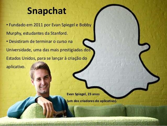 Snapchat - Trabalho Midias Sociais Slide 2