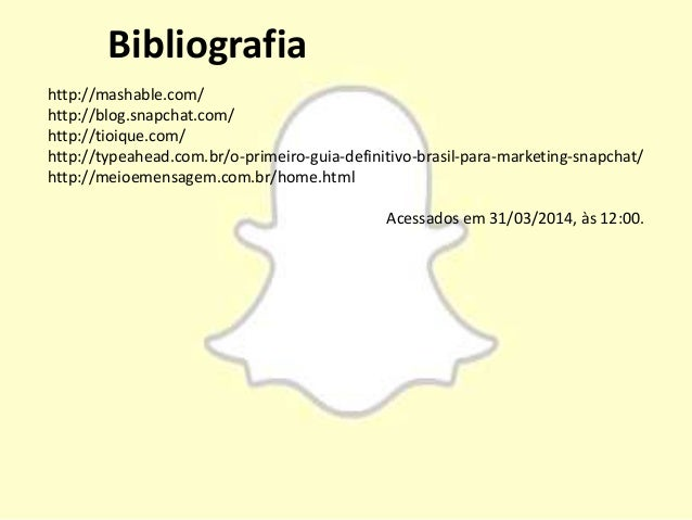 Snapchat - Trabalho Midias Sociais
