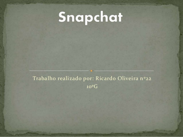 Trabalho realizado por: Ricardo Oliveira nº22 10ºG