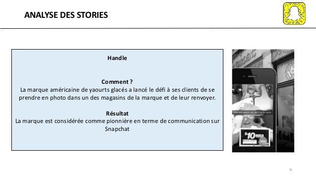 ANALYSE DES STORIES 9 Handle Comment ? La marque américaine de yaourts glacés a lancé le défi à ses clients de se prendre ...