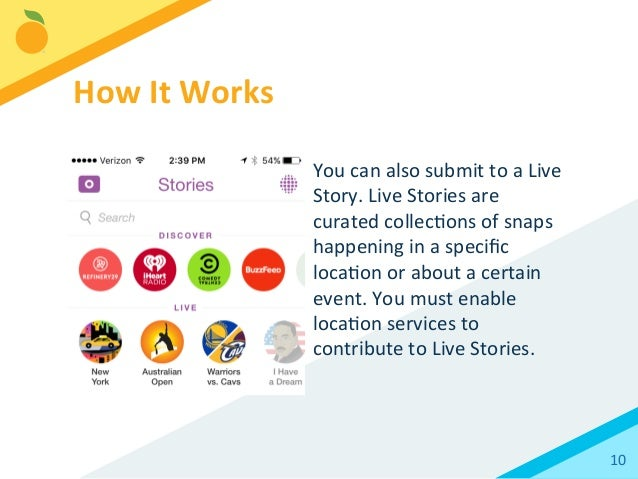 how to create a live story event on snapchat