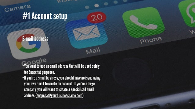 #1 Account setup Password •I'm not going to preach about the importance of having a secure password but it's extremely imp...