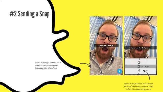 After taking a snap, simply tap the middle of your screen and you will be able to type a short blurb of text for the recip...
