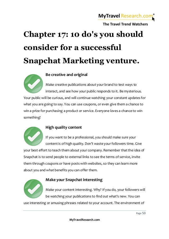 Snapchat for tourism marketing made easy