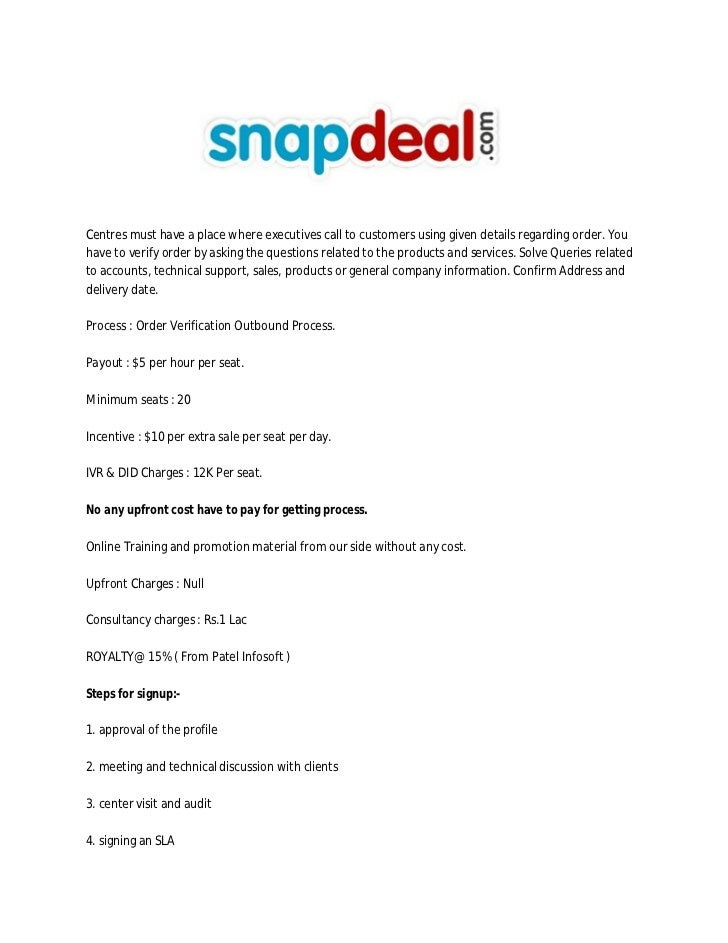 Snapdeal Invoice Pdf