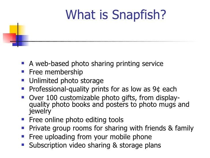 Snapfish Ppt