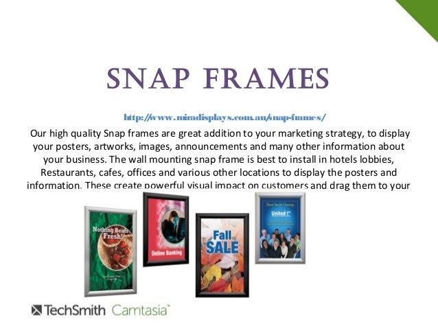 Snap Frames Mira Displays